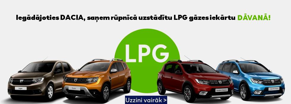 DACIA ar sašķidrinātas naftas gāzes (LPG) iekārtu dāvanā!